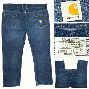 Carhartt Slim Straight 42 x 30 Medium Wash Jeans